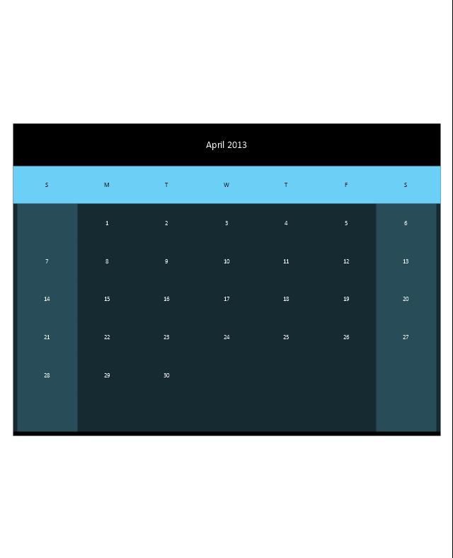 Small Calendar (Black), month calendar,