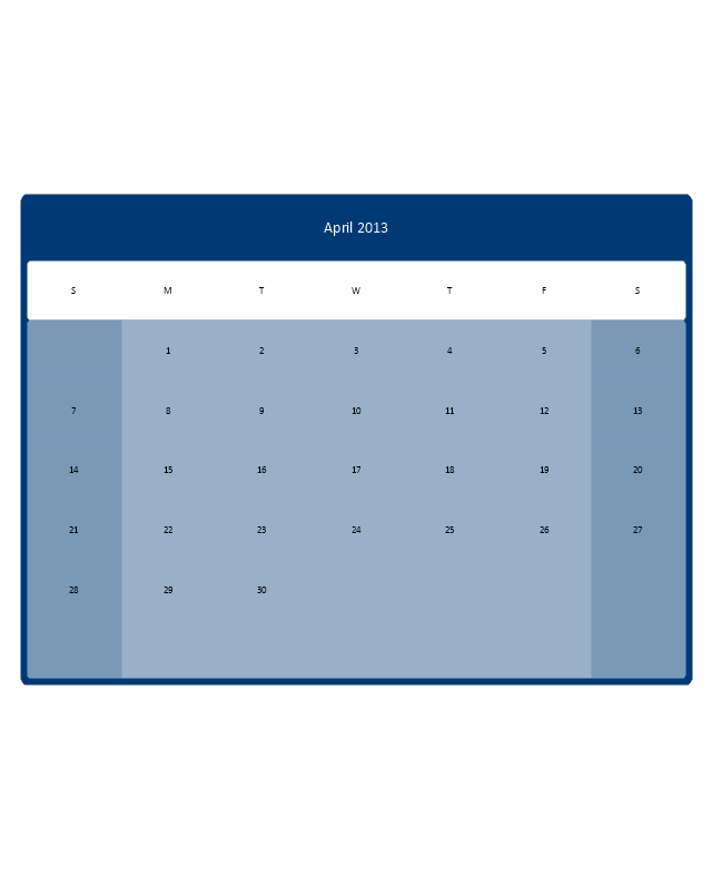Small Calendar (Color, Rounded), month calendar,