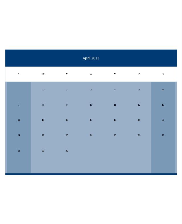Small Calendar (Color), month calendar,