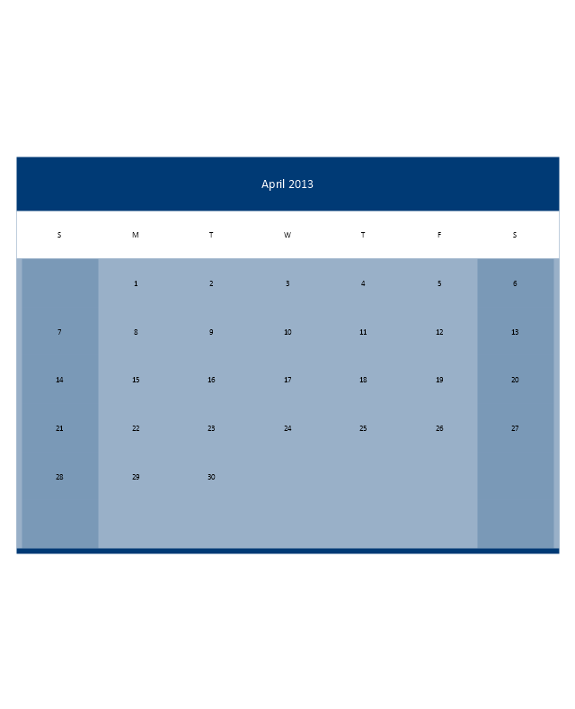 Small Calendar (Color), month calendar,