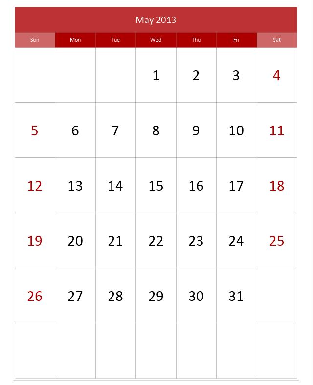 Mid Calendar , month calendar,