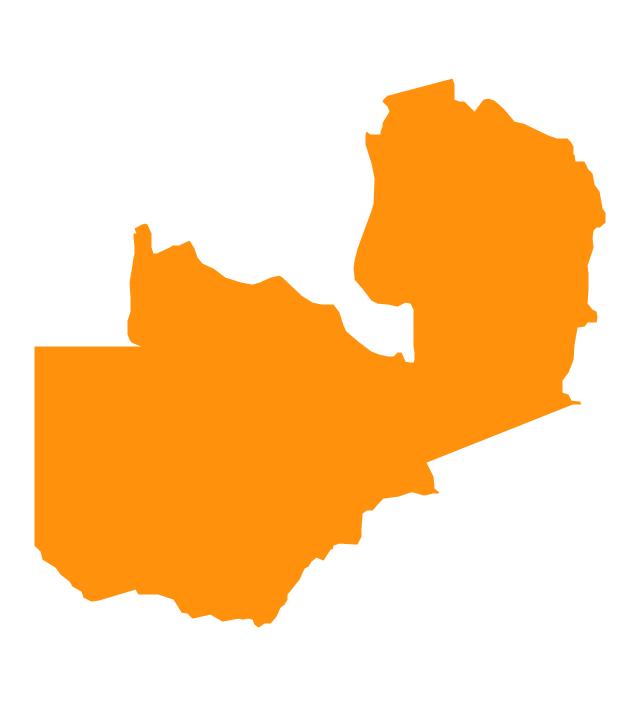 Zambia Map Of Africa.Map Of Africa Highlighting Zambia