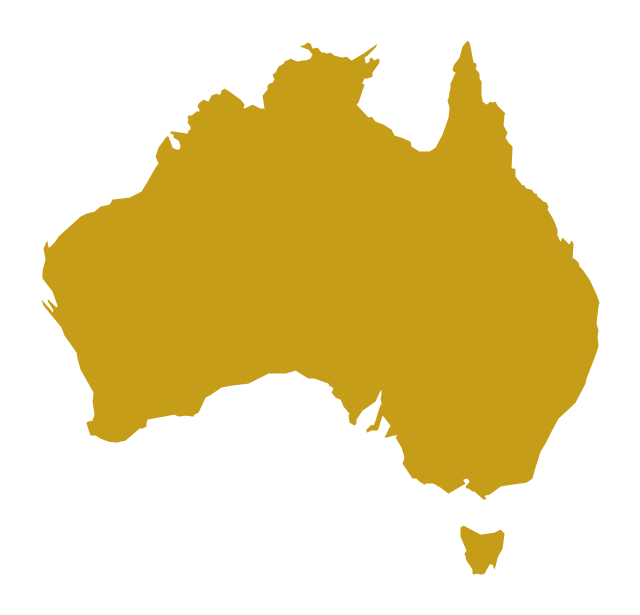 Australia Map Outline Vector.Australia And New Zealand Vector Stencils Library Australia New