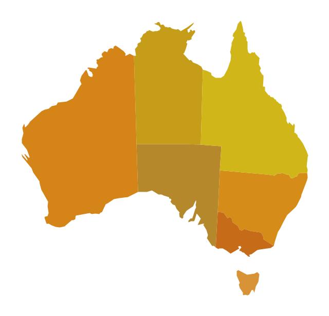 Australia (states), Australia, Australia map,