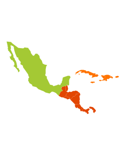 Latin America - Vector stencils library