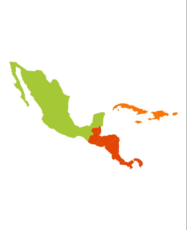 Latin America Vector Stencils Library