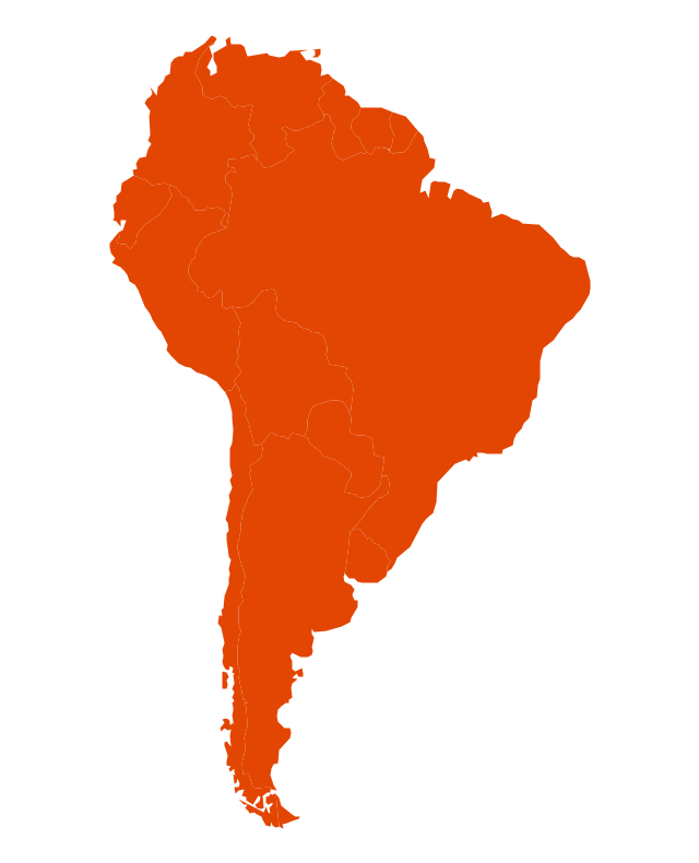 Latin America South America Map.Languages Of South America Thematic Map Geo Map South America