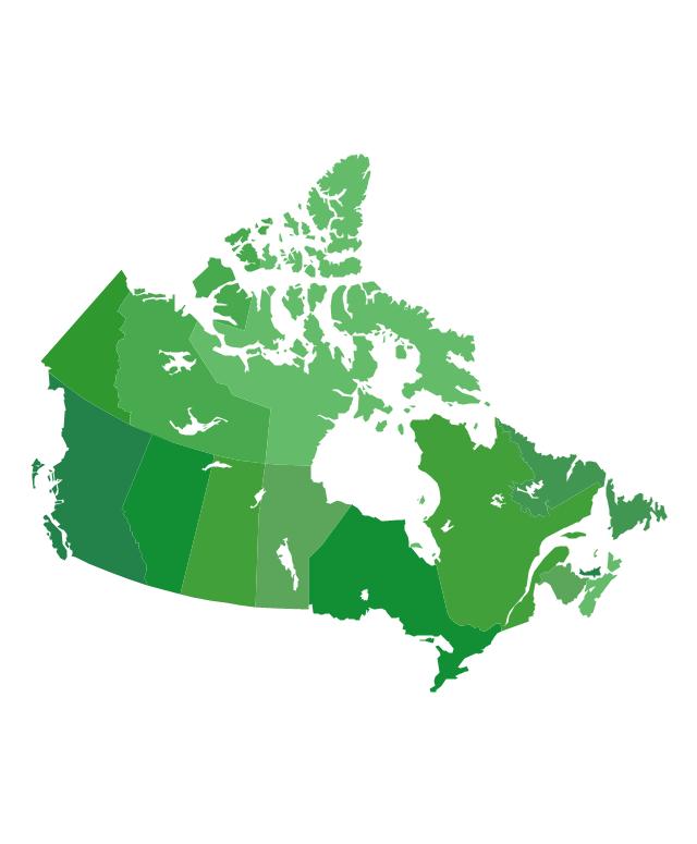 Canada (provinces and territories), Canada, Canada map, provinces, territories,