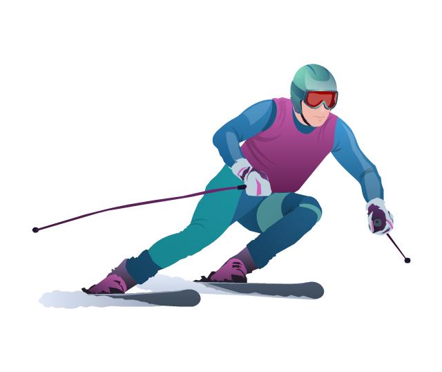 Alpine skier, alpine skier,