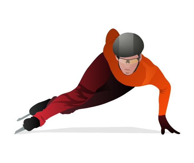 Short track skater, short track skater, short track,