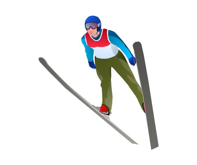 Ski jumper, ski jumper, ski jumping,