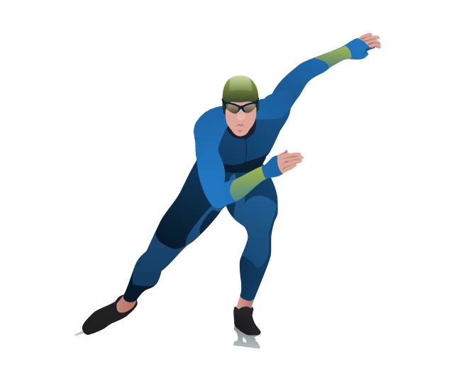 Winter Olympics - Figure skating | Winter Sports Vector Clipart ...