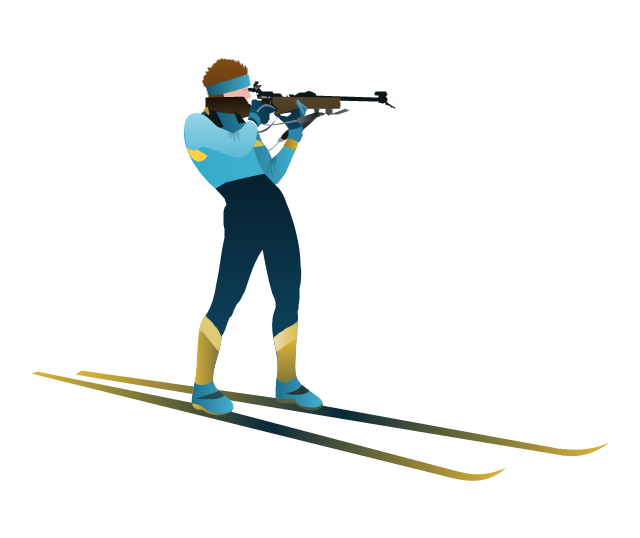 Biathlon shooter, biathlon, biathlon shooter,