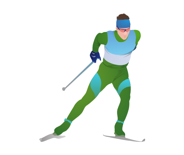 Cross-country skier, cross-country skier,