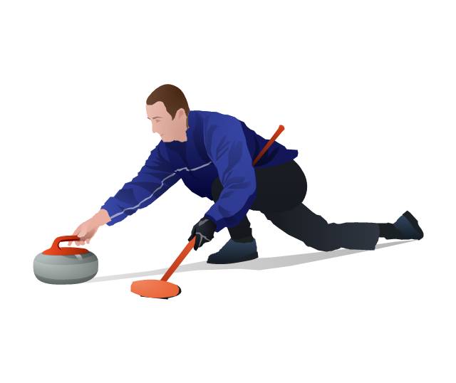 Curling, curling,