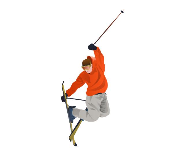 Freestyle skier, freestyle skier, freestyle skiing, freestyle,