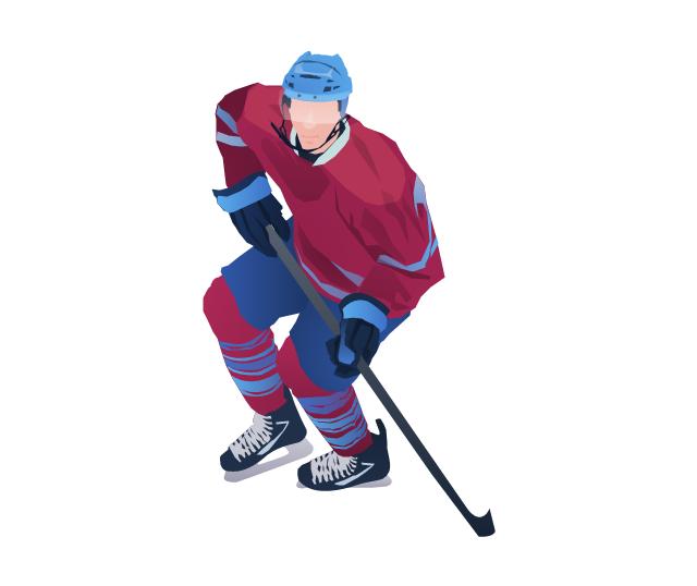 Ice hockey player, ice hockey player,