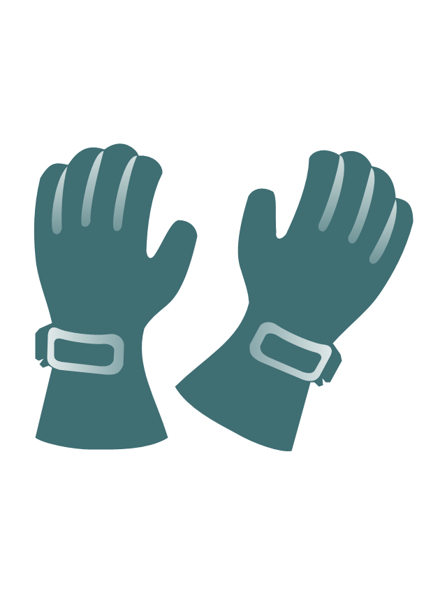 Ski gloves, ski gloves,