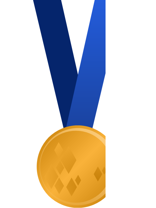 Olympic medal with ribbon, gold, gold olympic medal,