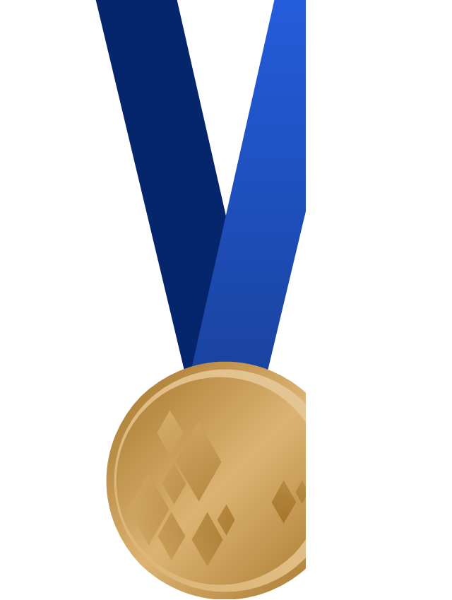 Olympic medal with ribbon, bronze, bronze olympic medal,
