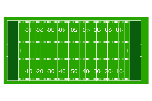 Horizontal colored football field, horizontal colored football field,