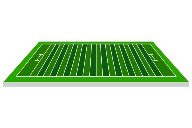 Football field, sideline view, sideline view football field,