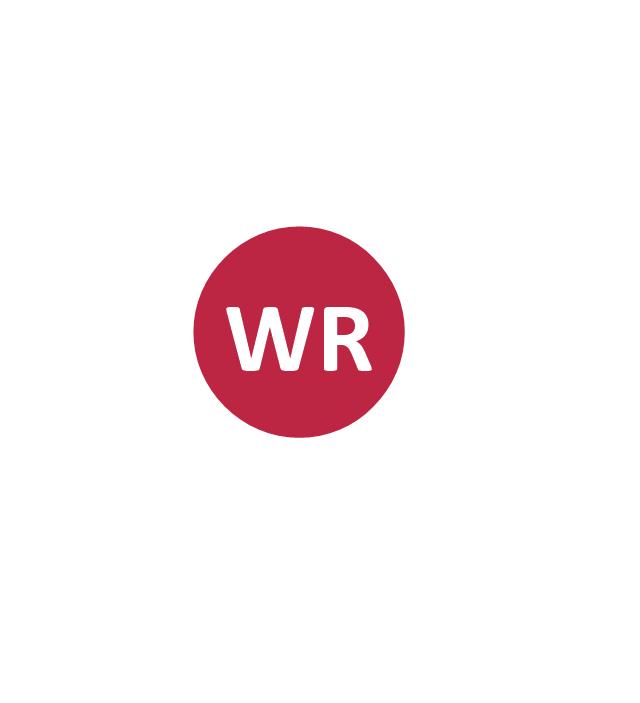 Wide receiver (WR), wide receiver, WR,