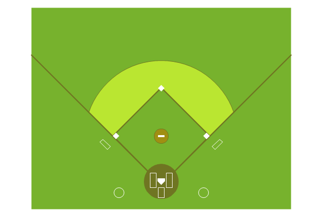 Colored baseball field, colored baseball field,
