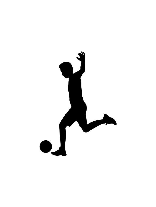 soccer player soccer player silhouette