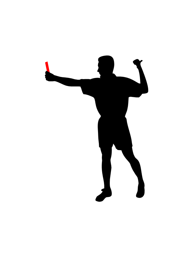 Referee, referee silhouette,