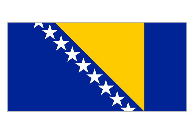 Flag of Bosnia and Herzegovina, Bosnia and Herzegovina,