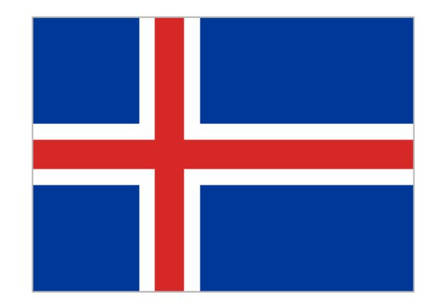 Flag of Iceland, Iceland,