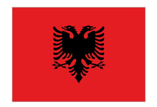 Flag of Albania, Albania,