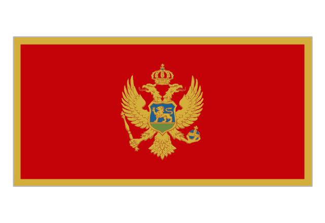 Flag of Montenegro, Montenegro,