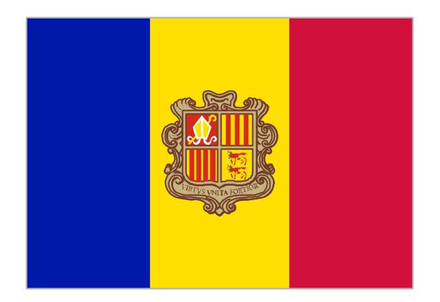 Flag of Andorra, Andorra,