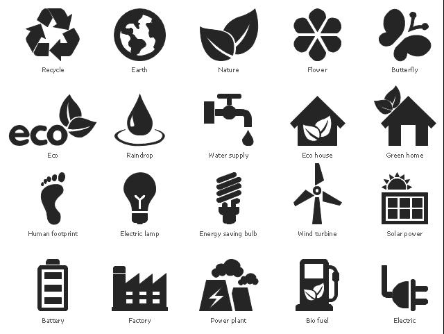 Design Elements Ecology Pictograms