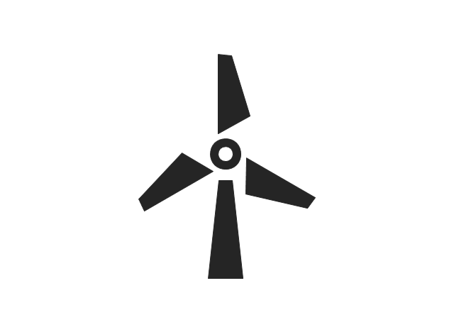 Wind turbine, wind turbine, windmill,