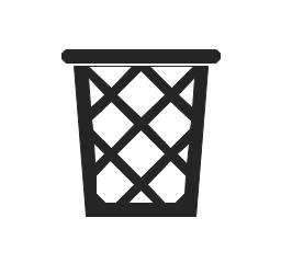 Wastepaper basket, trash bin, wastepaper basket,