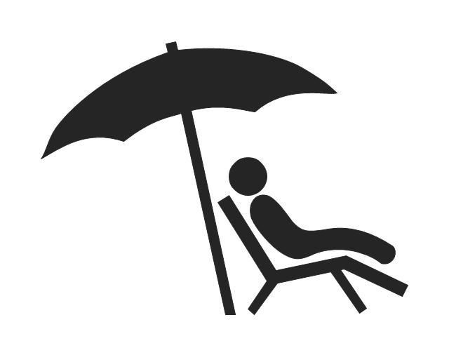 Man lying under parasol, man lying under parasol,