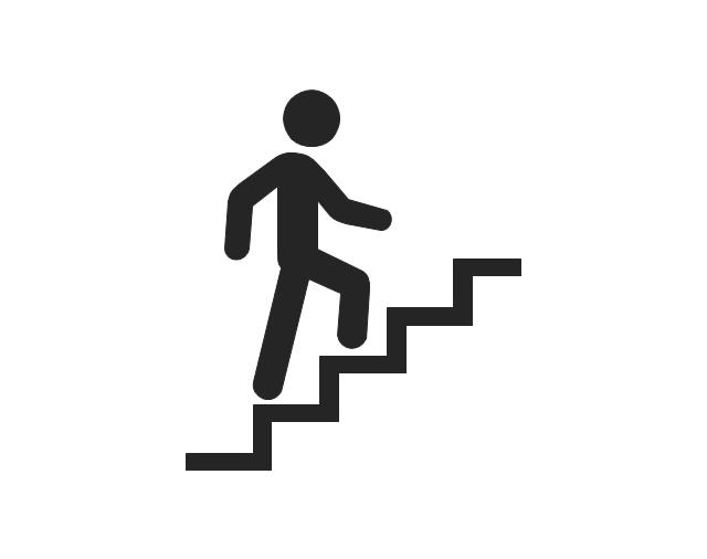 Man climbing stairs, man climbing stairs,