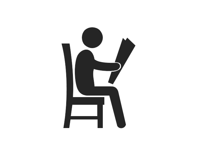 Sitting man reading, sitting man reading,