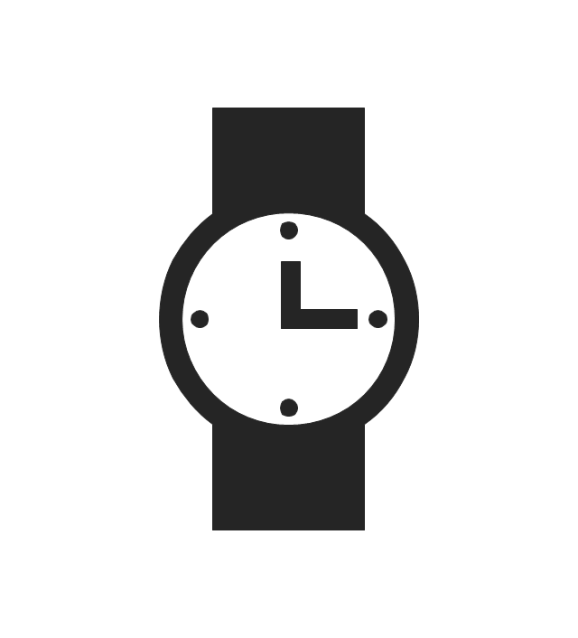 Time and clock pictograms - Vector stencils library
