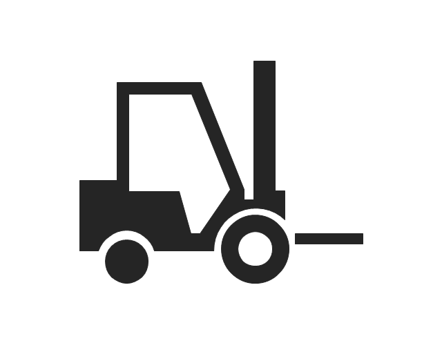 industrial vehicles - vector stencils library
