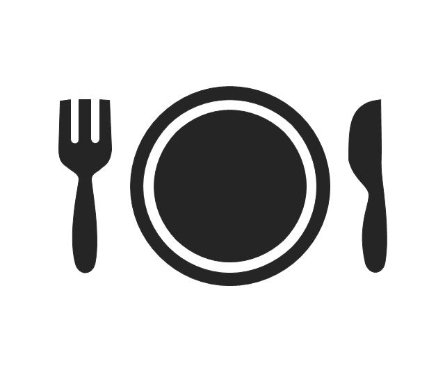 Restaurant, food, plate, fork, knife, dinner, restaurant,
