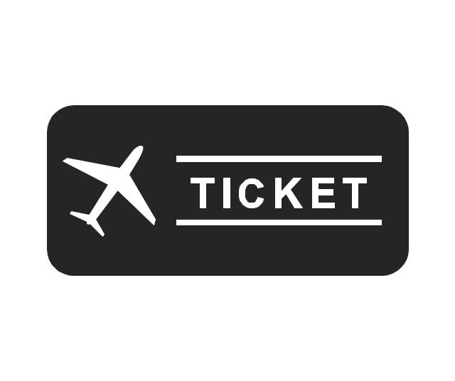 Ticket, ticket, air ticket, plane,