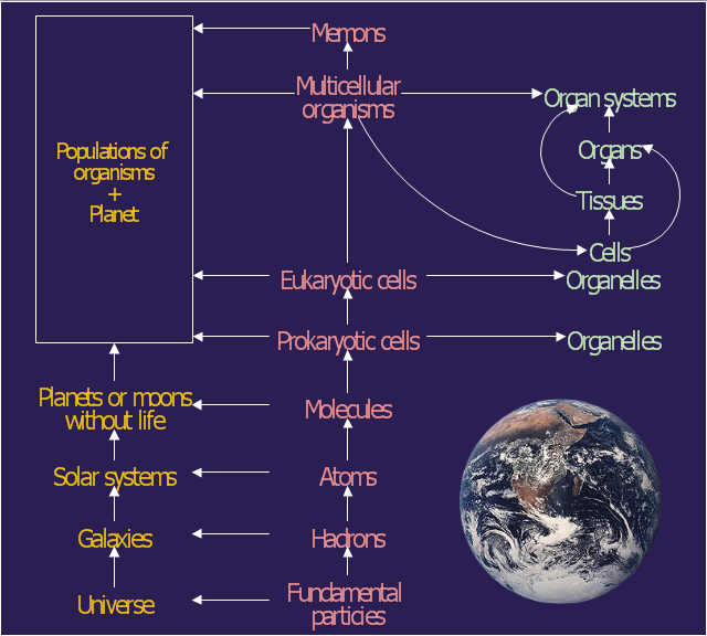 Rearrangement of the classical ecological/system hierarchy, Earth,