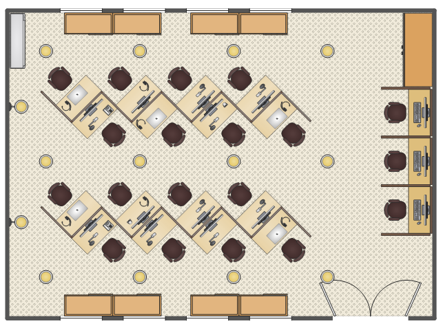 Office Layout Plans Emergency Plan Emergency Plan Template Call Center Cubicles Layout Design