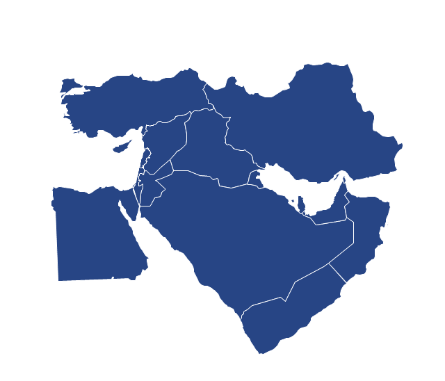 Political map - Middle East, Israel, Egypt,