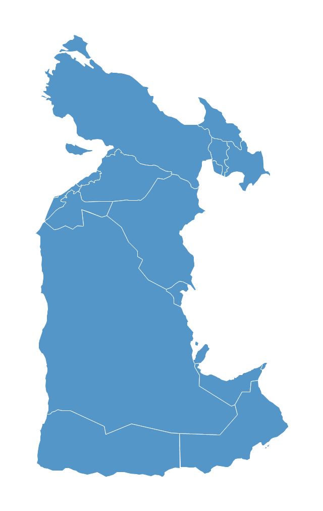 Political map - Southwest Asia, Bahrain, Bahrain map,