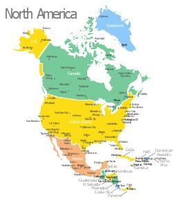 North America map template, USA, United States, United States of America, Puerto Rico, Panama, Nicaragua, Mexico, Jamaica, Honduras, Haiti, Guatemala, Greenland, El Salvador, Dominican Republic, Cuba, Costa Rica, Canada, Belize,